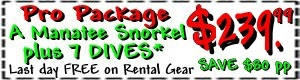 manatee snorkel dive discount package coupon