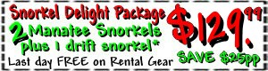 manatee dive snorkel tour package coupon